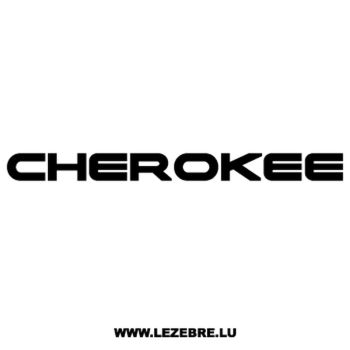 Sticker Jeep Cherokee
