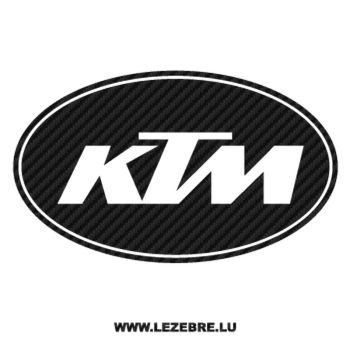 Sticker Carbone KTM Logo 2