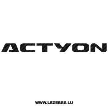 Sticker Carbone Kia Actyon