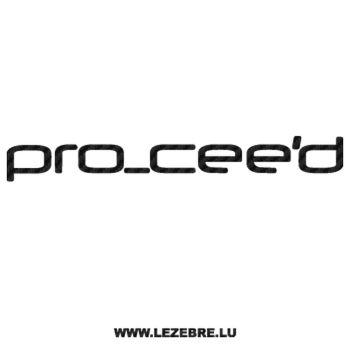 Sticker Carbone Kia Pro Cee'd