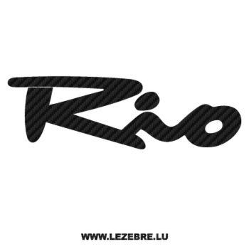 Sticker Carbone Kia Rio
