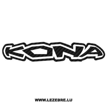 Sticker Carbone Kona Logo 2