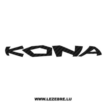 Sticker Carbone Kona Logo 3