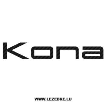Sticker Carbone Kona Logo 6