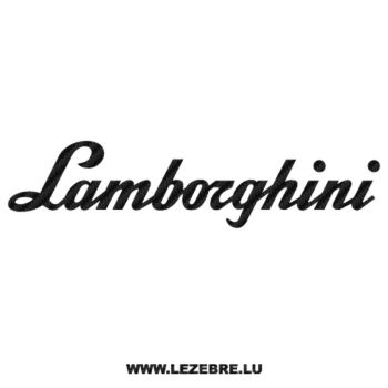 Lamborghini Carbon Decal