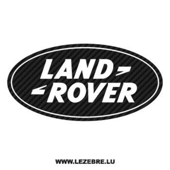 Sticker Carbone Land Rover Logo
