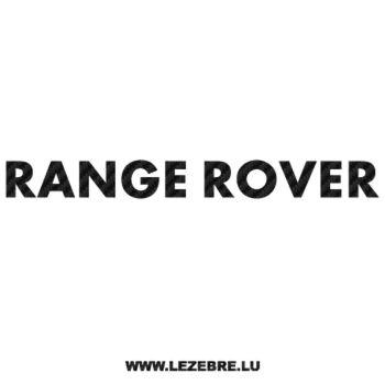 Sticker Carbone Land Rover Range Rover