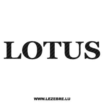 Sticker Carbone Lotus 2