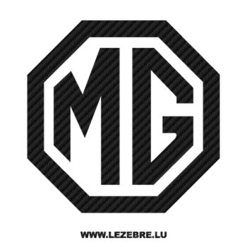 MG Logo Carbon Decal