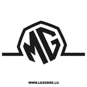 MG Logo Carbon Decal 2
