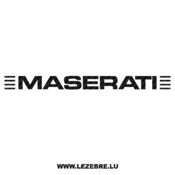 Maserati Carbon Decal