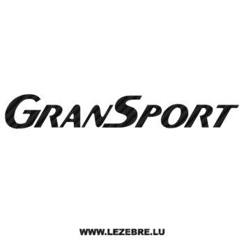 Maserati GranSport Carbon Decal