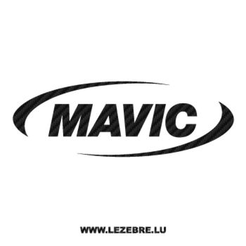 Mavic Logo Carbon Decal 3
