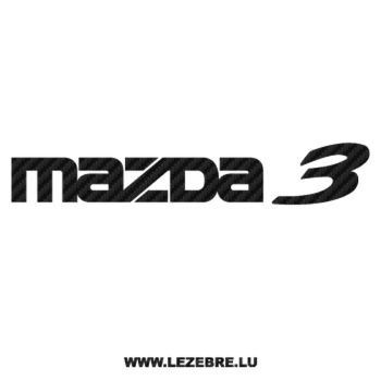 Mazda Carbon Decal 3