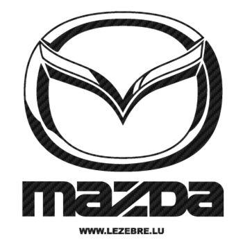 Mazda Logo Carbon Decal