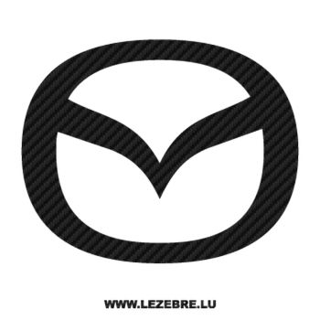 Mazda new logo Carbon Decal