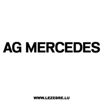 Mercedes AG Decal