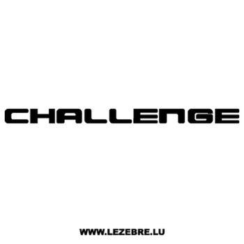 Sticker Mitsubishi Challenge