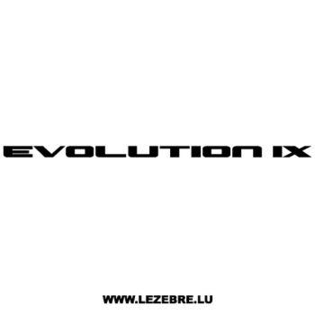 Mitsubishi Evolution IX Decal
