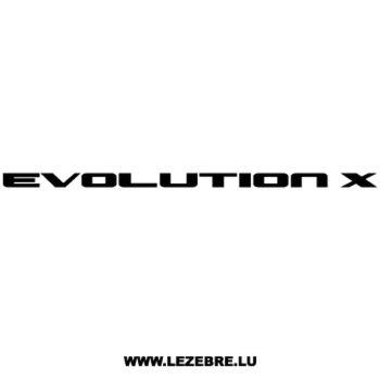 Sticker Mitsubishi Evolution X