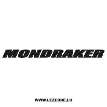 Sticker Carbone Mondraker Logo 2