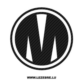 Sticker Carbone Mondraker Logo 3
