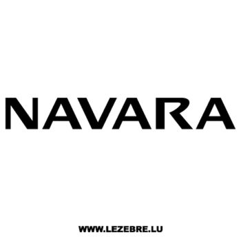 Sticker Nissan Navara