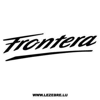 Opel Frontera Decal