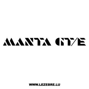 Opel Manta GT/E Decal