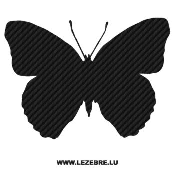 Butterfly Carbon Decal 24