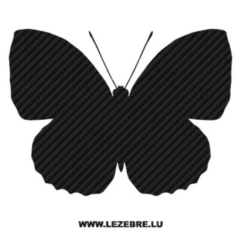 Butterfly Carbon Decal 25