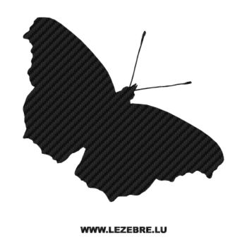 Butterfly Carbon Decal 03