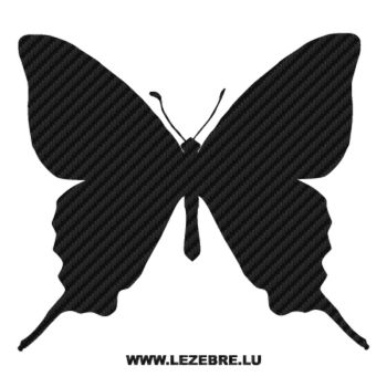 Butterfly Carbon Decal 36