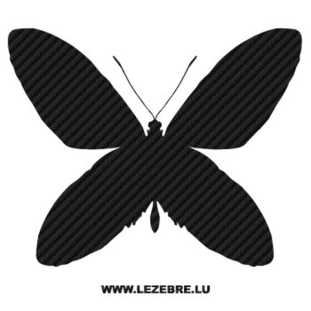 Butterfly Carbon Decal 37