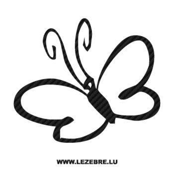 Butterfly Carbon Decal 57