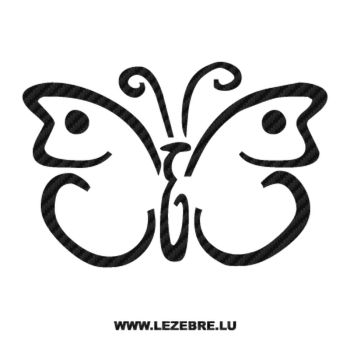 Butterfly Carbon Decal 58
