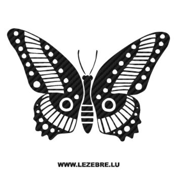 Butterfly Carbon Decal 65