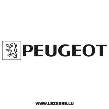 Peugeot Old Logo Carbon Decal