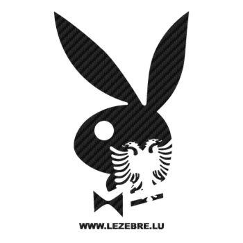 Sticker Carbone Playboy Bunny Albanais