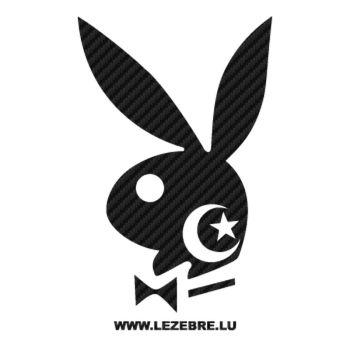 Sticker Carbone Playboy Bunny Algérien