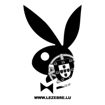 Portuguese Escudo Playboy Bunny Decal