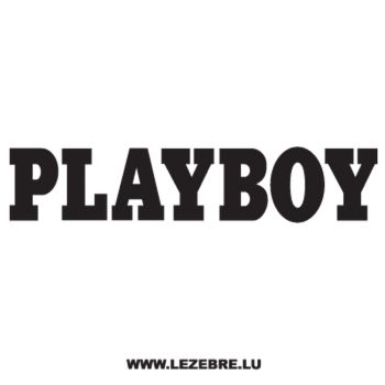 Playboy Logo Ecriture Decal