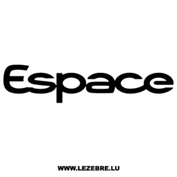 Renault Espace Decal