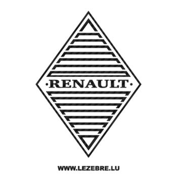 Renault Old Logo Carbon Decal 3