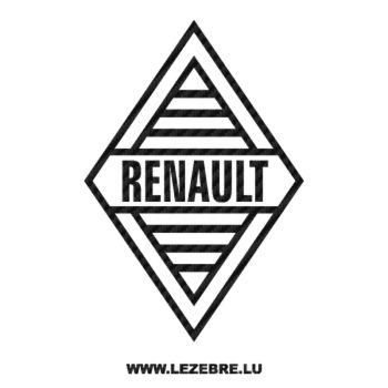 Renault Old Logo Carbon Decal 4