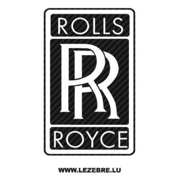 Rolls Royce Logo Carbon Decal