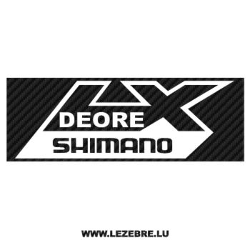 Sticker Carbone Shimano Deore LX