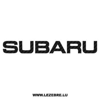 Sticker Karbon Subaru