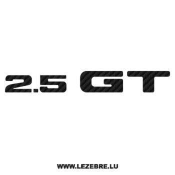 Sticker Karbon Subaru 2.5 GT