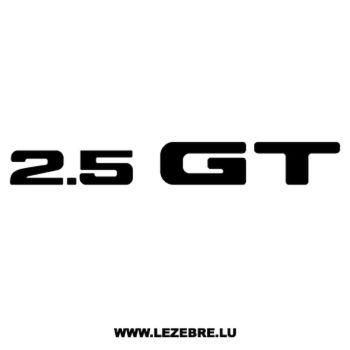 Sticker Subaru 2.5 GT